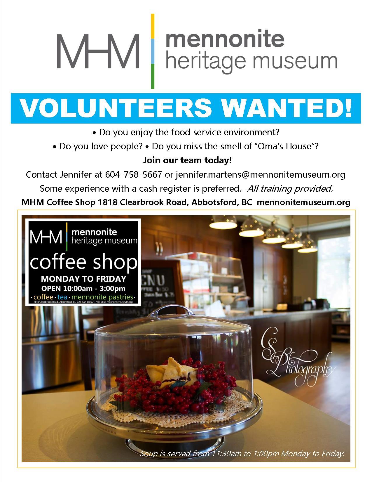 MHM Volunteers Wanted CS