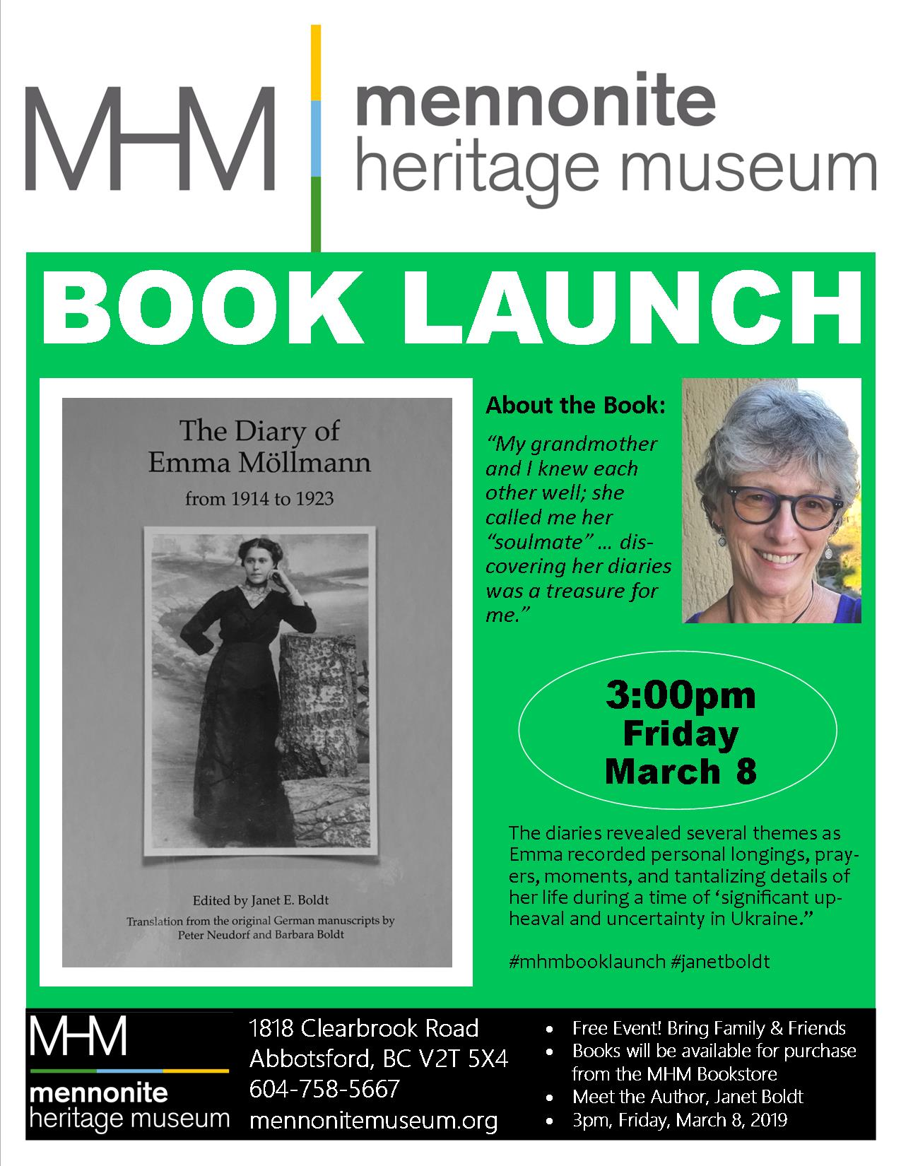 2019 03 28 MHM Book Launch Janet Boldt The Diary Of Emma 4
