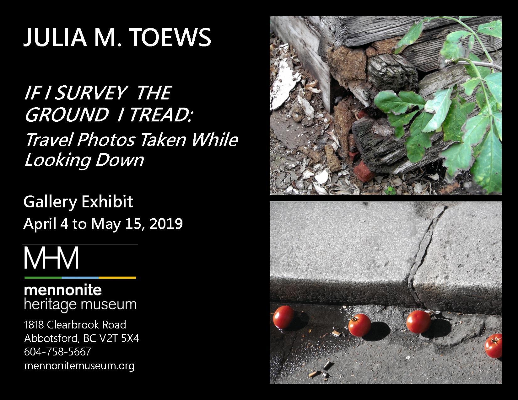 2019 04 MHM Gallery Exhibit Photo Exhibition Looking Down Julia M Toews