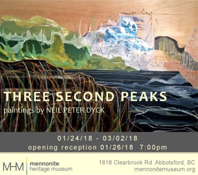 Poster Neil Peter Dyck Gallery Exhibit