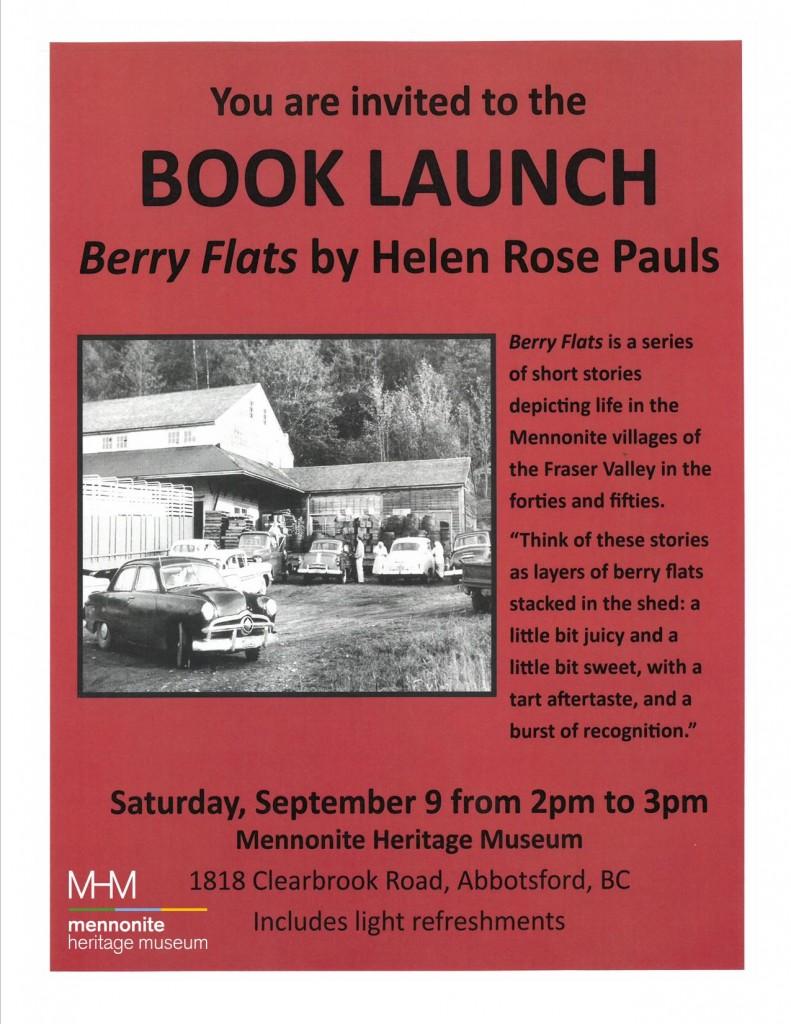 2017 Berry Flats Book Launch