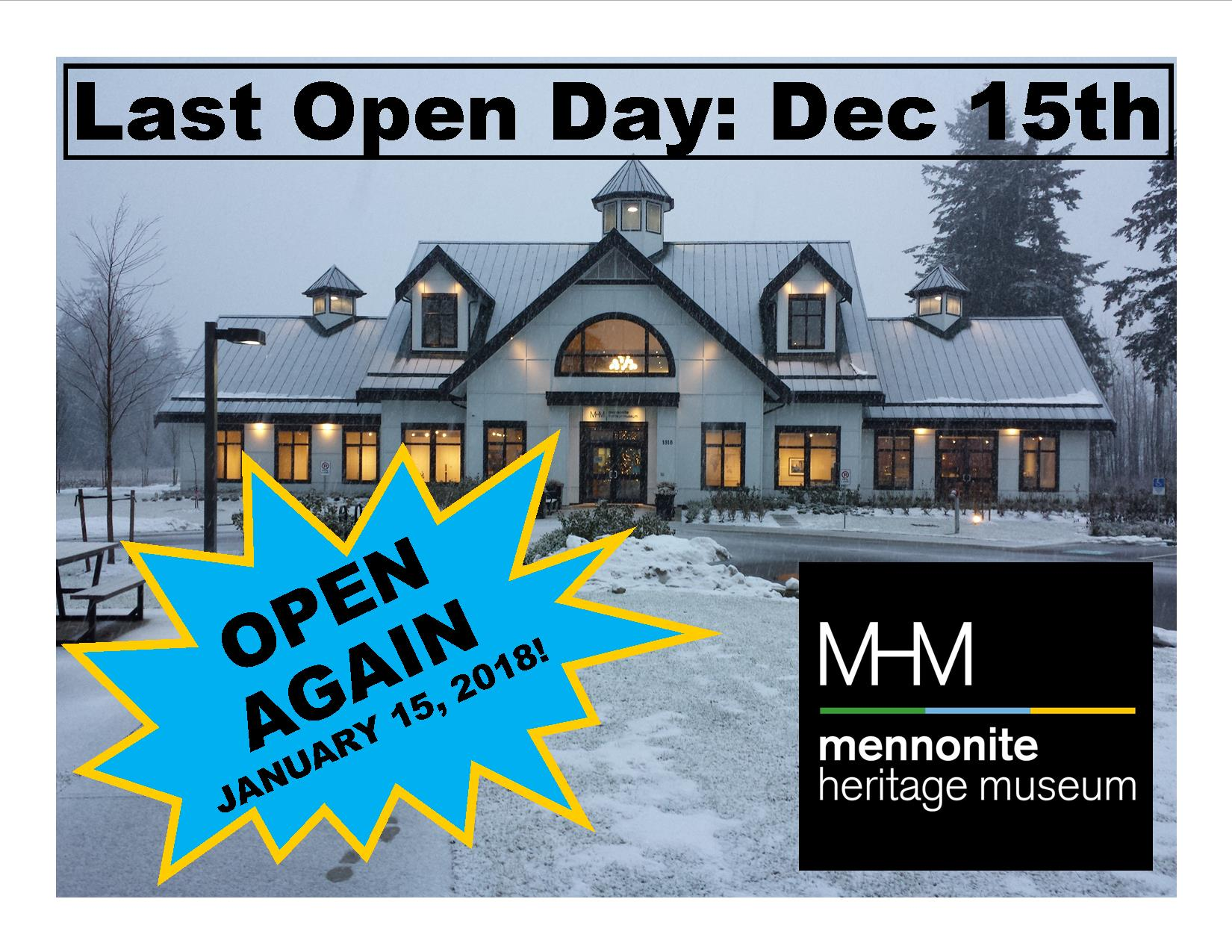 2017 Museum Closure and 2018 Opening Day