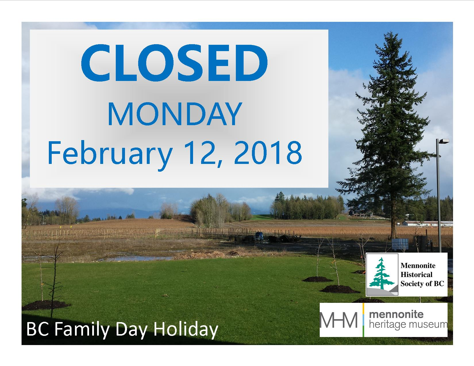 2018 02 12 Closed Sign for BC Family Day