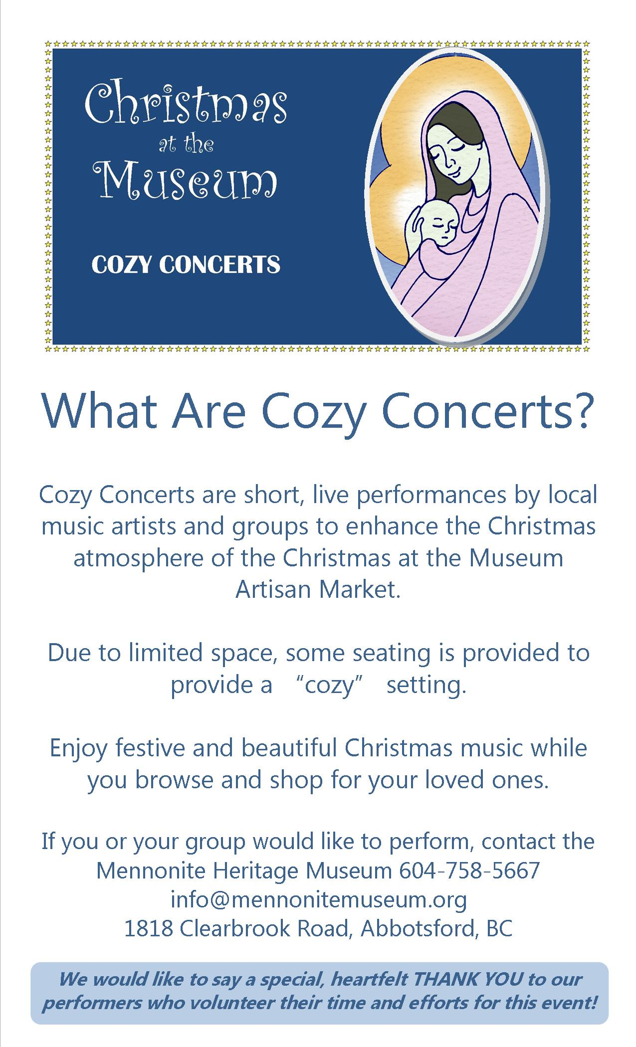 What Are Cozy Concerts
