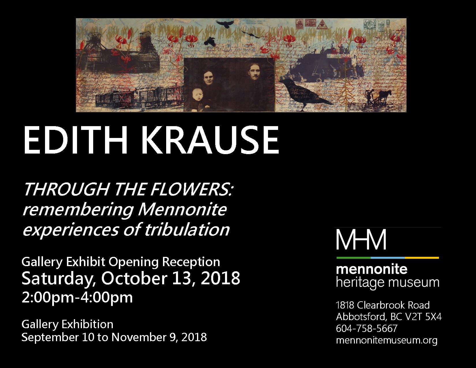 Edith Krause Opening Reception Poster