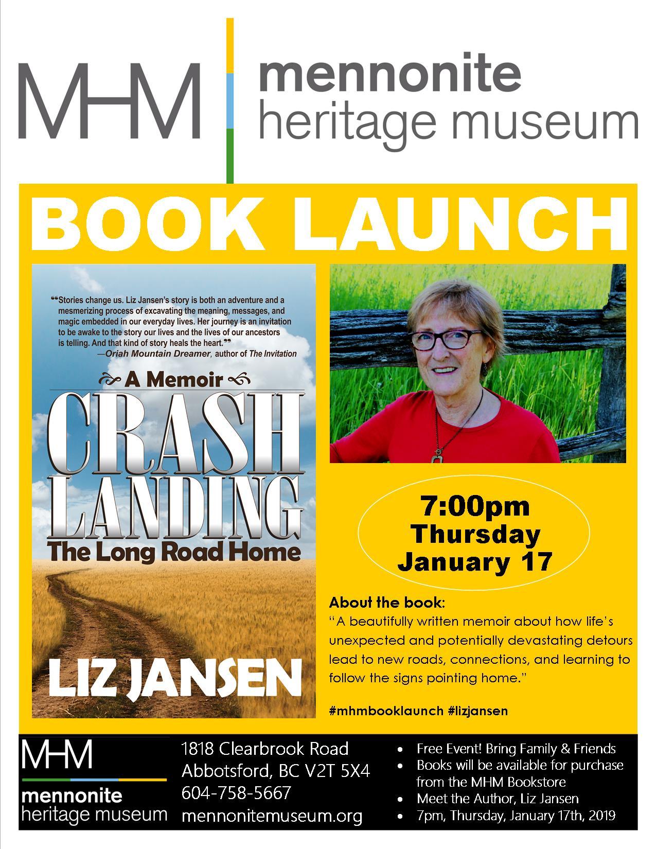 Liz Jansen Book Launch in BC Poster