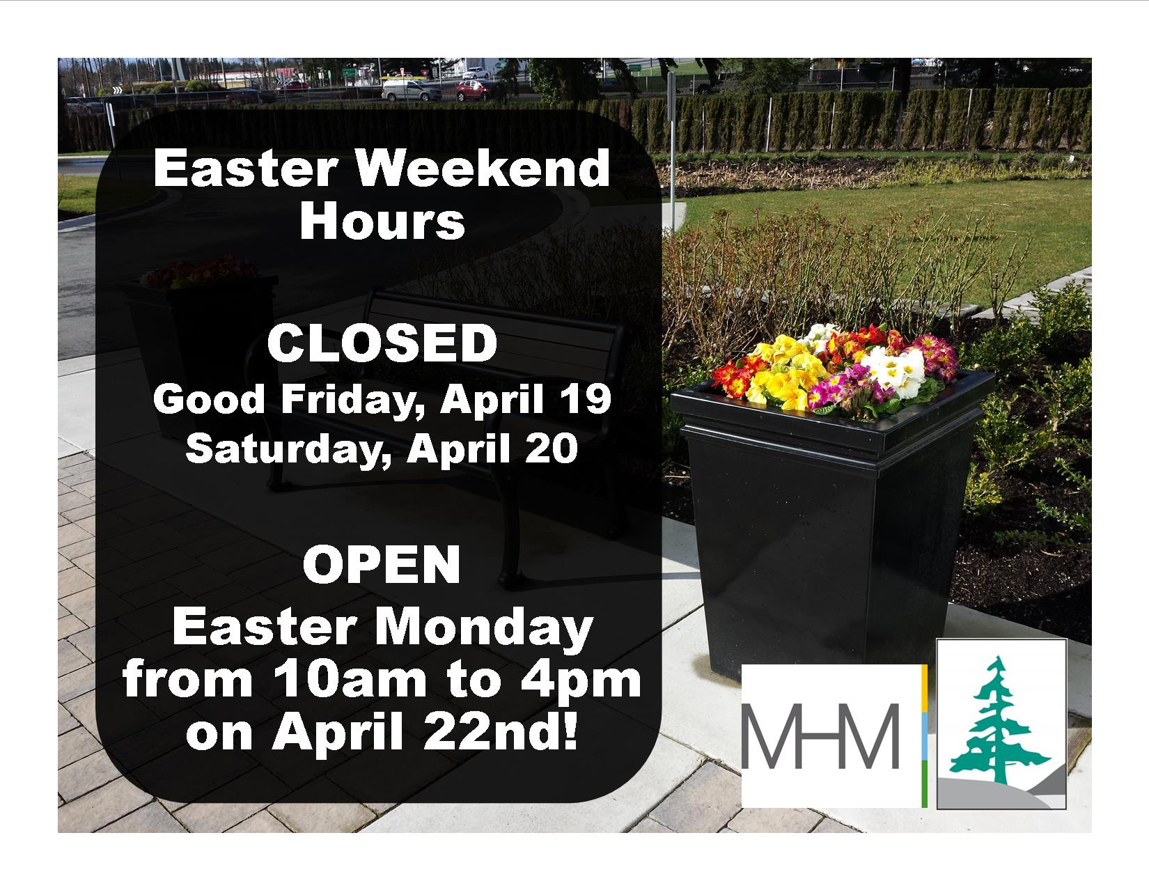 2019 04 19 to 22 CLOSURE SIGN EASTER