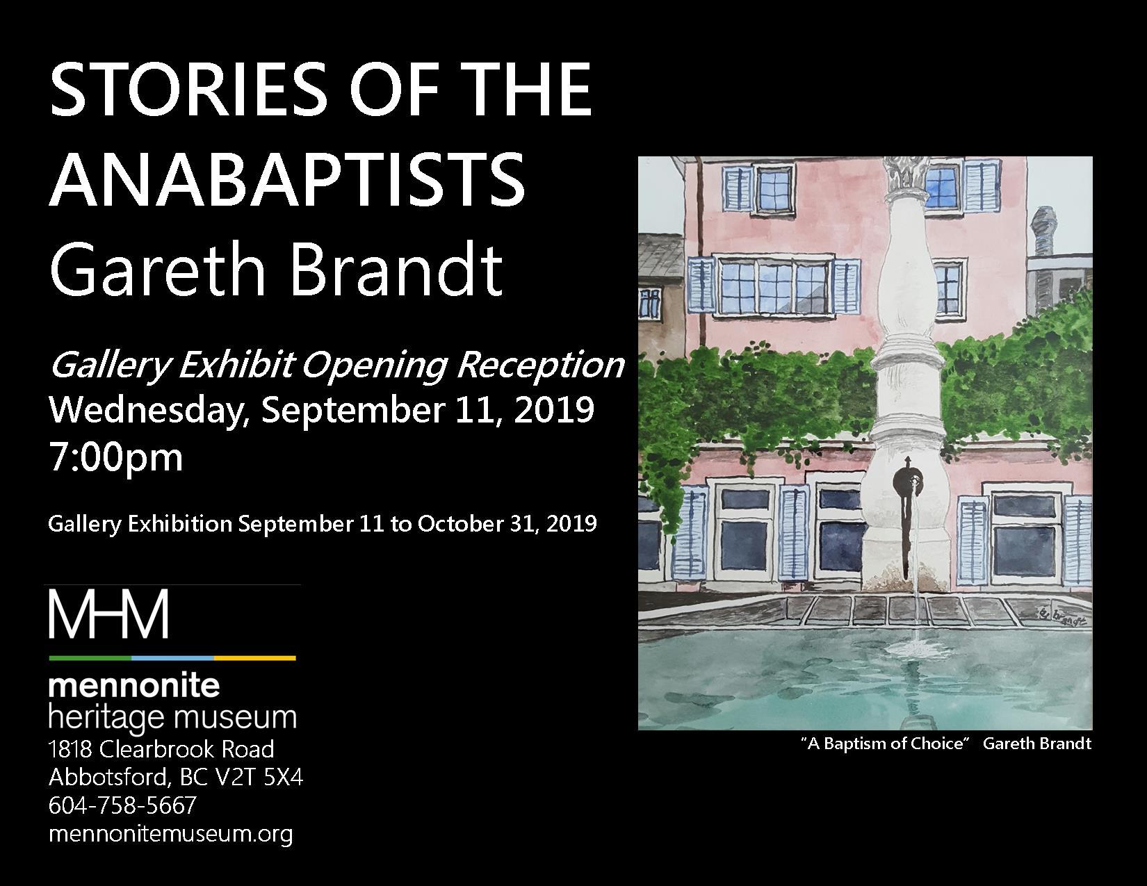 2019 09 Gareth Brandt Gallery Exhibit Opening Reception Poster