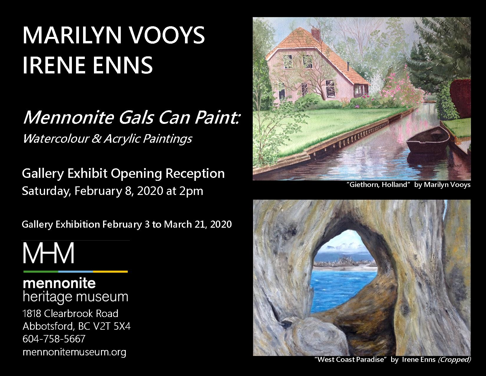 2020 MHM Gallery Exhibit Marilyn Vooys and Irene Enns